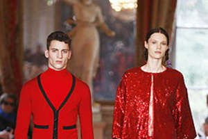 Alexis Mabille Makes Like Trend Hunter and Rocks Red and Black