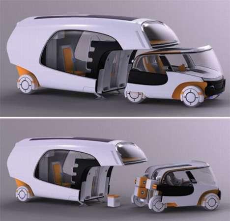 Car-Caravan Hybrids - COLIM Features Detachable City Auto for Sightseeing