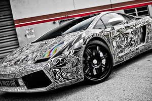 Street Art Meets Street Racing for the 'Sharpie Lamborghini'