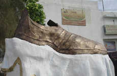 Giant 'Bush Shoe' Removed From Tikrit and Destroyed