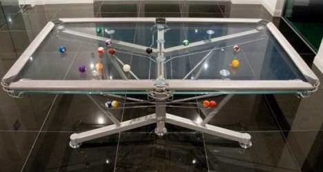 See-Through Billiards - The Glass G-1 Pool Table Takes Luxury to the Next Level of Fun