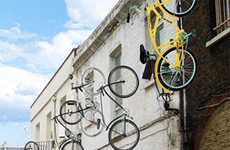 Levitating Bicycles - Remote-Controlled Wall Mounted Bike Locks Discourage Thieves