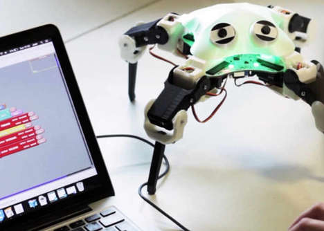 Educational DIY Robots - The 'QuadBot' Walking Robot Teaches Users About Coding and Electronics