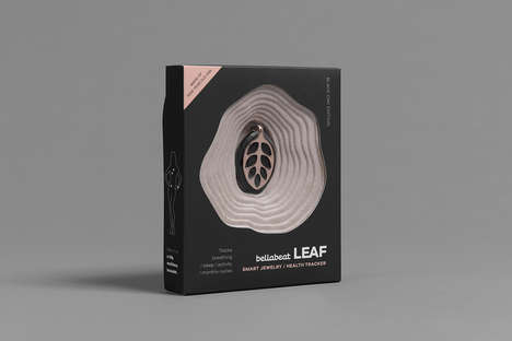 Fitness-Tracking Jewelry Packaging - The 'Bellabeat Leaf' Tracker Comes in Textured Packaging