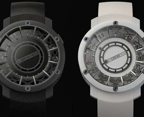 Hand-Free Rotating Wristwatches