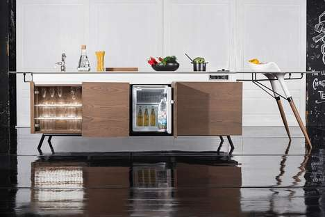 All-in-One Kitchen Units - The 'KITCH'T' Home Kitchen Design is a Place for Cooking and Socializing