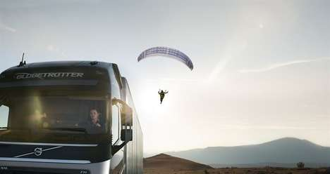 Paraglider-Pulling Trucks - 'The Flying Passenger' Will Feature a Volvo Truck Hauling a Glider