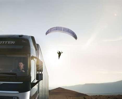 Paraglider-Pulling Trucks