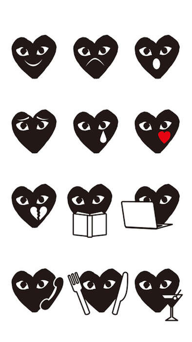Japanese Fashion Emojis - These Japanese Holiday Emojis from COMME des GARÇONS Utilize Its Logo