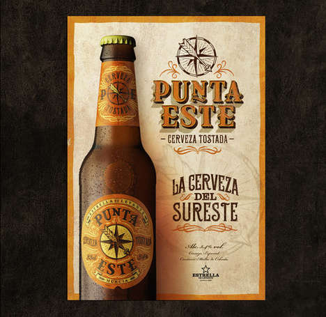 Navigational Beer Labeling - This Spanish Beer Features Designs Inspired by Its Origins