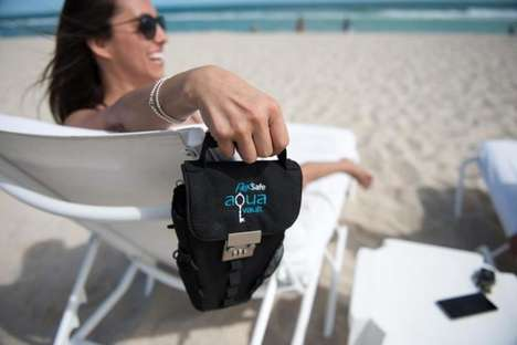 Outdoor Lounge Chair Safes - The 'AquaVault' Portable Safe Keeps Possessions Safe When Traveling
