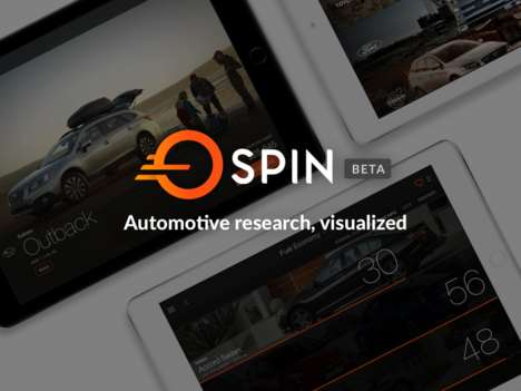 Visualized Car Shopping Apps - 'SPIN' Enhances the Car Shopping Experience with Immersive Data