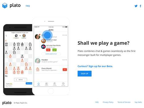Chat-Focused Gaming Apps - The 'Plato' Chat Game App Lets Users Play and Talk in the Same Spot