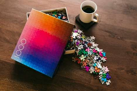 Gradient Color Puzzles - This Puzzle Was Designed With Nothing But Hundreds of Colors