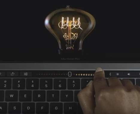 Innovation-Celebrating Laptop Ads