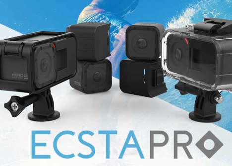 Action Cam Battery Extenders - The 'EcstaPro' GoPro Extended Battery Doubles Camera Capabilities
