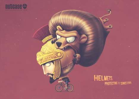 Fantastical Helmet Ads - This Campaign for Nutcase Helmets Depicts Cyclists Being Oddly Attacked