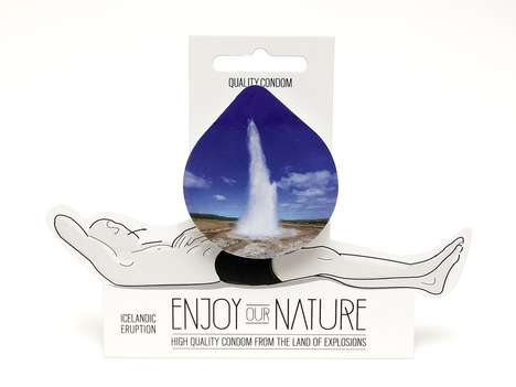 Suggestive Nature-Themed Condoms - 'Enjoy Our Nature's' Branding Uses Strategically Placed Images