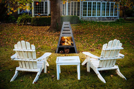Pyramidal Outdoor Fire Ovens - The Blaze Fire Tower Acts as an Outdoor Fire Pit and Grill