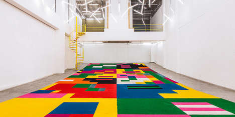 Geometric Carpet Installations - This Installation Pays Homage to a Popular Practice in Guatemala
