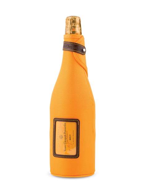 Insulating Bottle Jackets - Veuve Clicquot's Champagne Packaging is Styled as an 'Ice Jacket'