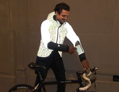 Vibrant Visibility Cyclist Jackets - The Urban Circus Fashion Tech Jackets Keep Wearers Safe