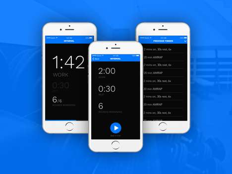 Intelligent Text Timer Apps - The 'Rex Timer' App is an Interval Timer for Customized Workouts