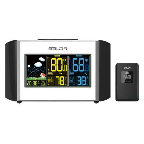 Weather Report Alarm Clocks - The BALDR Weather Station Clock Displays Pertinent Info Upon Waking