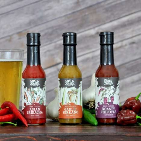 Spicy Beer-Infused Sauces - Swag Brewery Makes Infused Hot Sauce Products for Craft Beer Lovers
