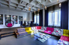 Textile-Centric Office Interiors - This Space Houses a Stylish Textile Company Office