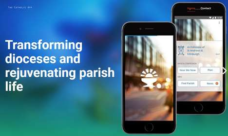Church-Locating Apps - 'The Catholic App' Guides Users to the Nearest Catholic Church