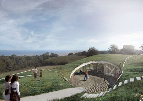Underground Visitor Centers - The Skamlingsbanken Visitor Center Will Have a Grassy Roof