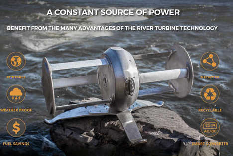 Riverbank Energy Turbines - The Idénergie Turbine Generator Creates Sustainable Energy in Rivers
