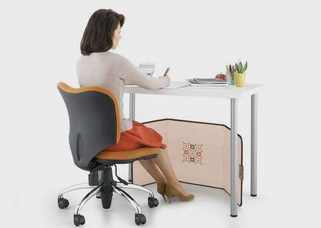 Flatpack Office Space Heaters - The Panasonic Foldable Under-the-Desk Personal Heater is Compact
