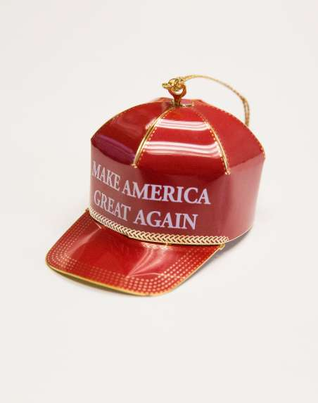 Collectible Presidential Ornaments - This Red Cap Collectible Ornament is Being Sold by Donald Trump