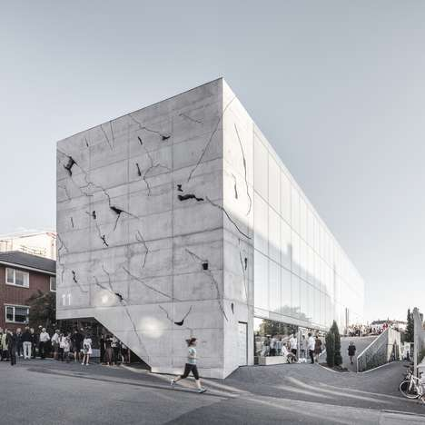 Artificially Crumbling Facades - SLETH Architects' Sonnesgade 11 Looks Like Crumbling Marble