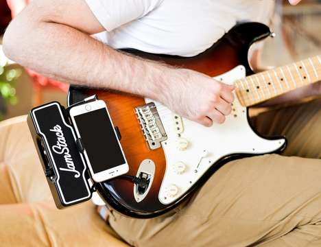Compact Smartphone Guitar Amplifiers - The 'JamStack' Connects Guitar Players to a Bevy of Effects