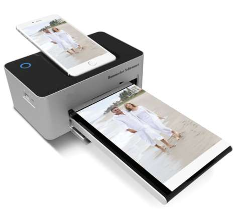 Smartphone-Charging Portable Printers - This Portable Photo Printer Charges Devices as it Operates