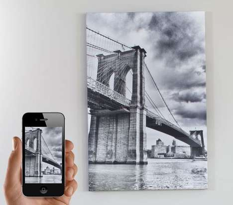 Social Media Canvas Prints - 'CanvasPop' Turns Smartphone Pictures into Handmade Canvases