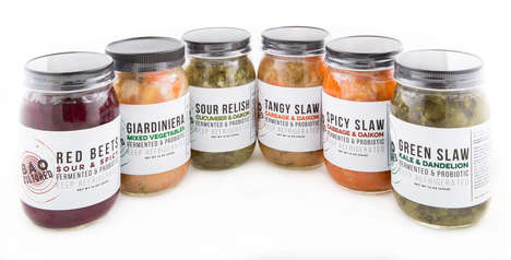 Fermented Vegetable Jars - BAO's Cultured Vegetable Products are Rich with Probiotics