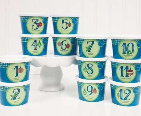 Holiday Advent Desserts - eCreamery's Twelve Days of Christmas Gives a Sampling of Holiday Ice Cream