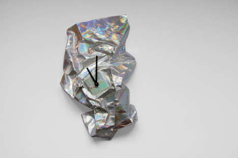 Malleable Cotton Clocks - Veronica Szalai's 'NEW TIME' Clocks Can Be Crumbled into New Shapes