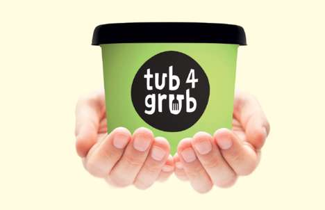 Giftable Yogurt Containers - The Collective Great Dairy's 'tub4grub' Introduces Food Sharing