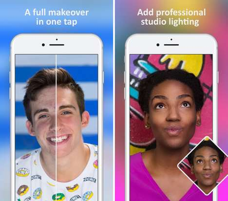 Digital Makeover Selfie Apps - The 'FaceTune 2' App Enables Versatile Photo Retouching