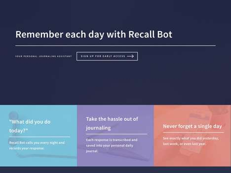 Automated Daily Journaling Services - 'Recall Bot' Calls You Every Evening and Transcribes Remarks