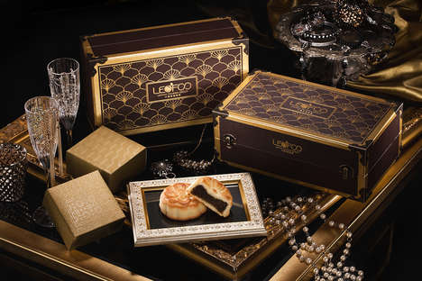 Travel-Themed Mooncakes - These Boxed Mooncakes Were Inspired by Luxury Luggage