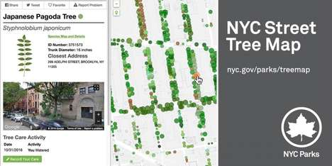 Urban Tree Maps - The NYC Tree Map Tracks the Economic Benefit of Trees on NYC Steets