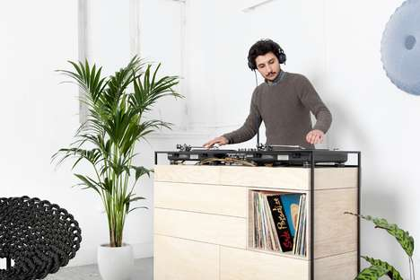Domestic DJ Booths - The Selectors Cabinet DJ Unit is Suitable for Private or Professional Use