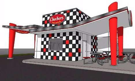 Modular Restaurant Franchise Buildings - The New Checkers Building is Cost-Effective for Franchisees