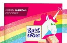 Unicorn-Inspired Chocolates - The Chocolate Brand 'Ritter Sport' is Offering a Mystical New Flavor